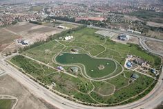 Sazovo Park is Being Constructed in Sazova District. The Park has an Area of Nearly Square Meters and is the Biggest Park of Eskisehir. Square Meter, Baseball Field, Namaste, Istanbul, Golf Courses, Construction, Tours, Park, Building