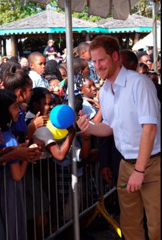 Prince Harry on Nevis Island
