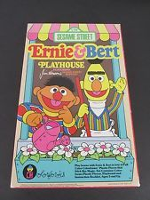 Vintage Colorforms Sesame Street Ernie &  Bert Play House Box Set 1986
