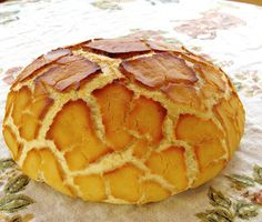 Dutch crunch bread, also known as Tiger bread.