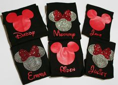 Personalized Disney Family Shirts - 14 shirt styles to choose from - Sizes Newborn to Adult 3XL