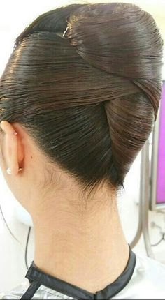 Updo with Fringe Bangs - 60 Easy Updo Hairstyles for Medium Length Hair in 2019 - The Trending Hairstyle Easy Updo Hairstyles, Elegant Hairstyles, Hairstyles With Bangs, Pretty Hairstyles, Wedding Hairstyles, Long Haircuts, Medium Hairstyles, African Hairstyles, Formal Hairstyles