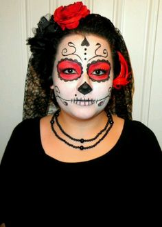 Dia de los muertos make-up Halloween 2012