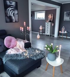 Image uploaded by Michelle. Find images and videos about home, candles and decor on We Heart It - the app to get lost in what you love. Home Bedroom, Home Living Room, Apartment Living, Living Room Designs, Living Room Decor, Living Spaces, Bedroom Decor, Bedroom Themes, Teen Bedroom