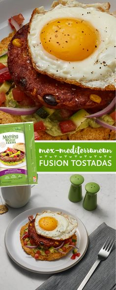 Meatless, Mexican AND Mediterranean?? Try this recipe as-is for a delicious dinner or simply swap our Spicy Black Bean Burger with our Veggie Sausage Patties to enjoy for breakfast. There's no wrong time of day for a sizzling savory plate of plant protein power.