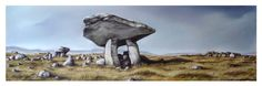 Killclooney Dolmen in County Donegal, Drawn on the spot, finnished in the Studio. gary bonner