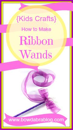 How to Make Ribbon Wands - LOVE these for choir and teaching phrasing