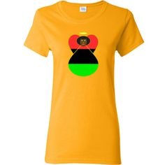 Angel wears the African American Flag or the Flag of the African Diaspora. Wonderful for celebrating Black History Month, Kwanzaa, Juneteeth, or any special day. Share your pride and love of your Black American heritage, culture and ancestry. $18.99 ink.flagnation.com
