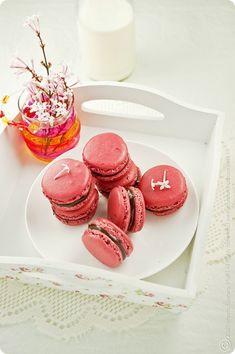 Raspberry Chcocolate Tahini Macarons (0007) By MeetaK