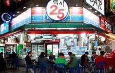 expats enjoy drinking Korean convenience store
