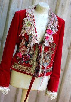 Scarlett chaqueta  chaqueta romántica recargada glamour