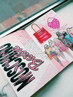 Moschino barbie - artist research Fashion Design Sketchbook, Fashion Design Portfolio, Art Sketchbook, Fashion Sketches, Sketch 2, A Level Art, Chocolate Factory, Gcse Art, Sketchbook Inspiration