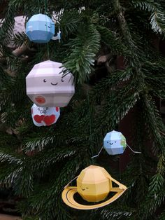 DIY:  Paper Planets Christmas Baubles <3
