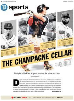 sports magazines layout - Google Search