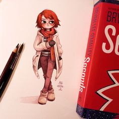 Read Bryan Lee O\'Malleys Seconds this weekend and loved it  I had to do a little fan art  of katie ❤  @radiomaru