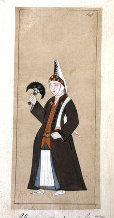 Ottoman woman. 1620.  (Photo credit - British Museum)