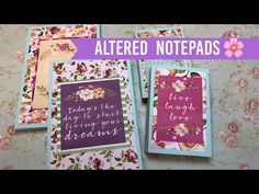 Arts And Crafts Store Info: 9164524036 Homemade Gifts, Diy Gifts, Altered Composition Books, Altered Books, Post It Note Holders, Scrapbook Paper Crafts, Scrapbooking Ideas, Paper Crafting, Craft Show Ideas