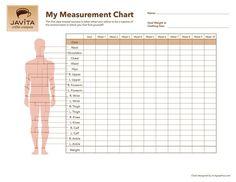 FREE javita body measurement chart