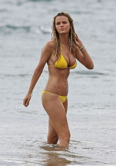 Bracelets and braids are Brooklyn Decker's secret to sexy beach style.