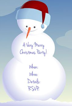 Free invitations templates free free christmas invitation snowman printable invitation customize add text and photos print for free stopboris Image collections