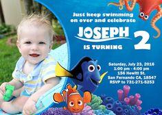 Encontrar la invitación de Dory encontrar Nemo invitación