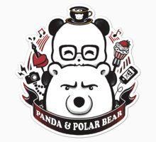 Panda And Polar Bear Badge Kids Clothes