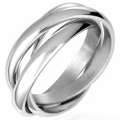 Polished Stainless Steel Interlocking Celtic Trinity Ring For Men Men's Jewellery #mensfashion #mensjewellery www.urban-male.com
