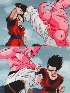 Dragon Ball Z, Dragon Ball Image, Manga Art, Anime Art, Majin Boo, Cartoon Art, Poster, Otaku, Artwork