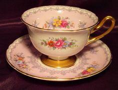 Shelley England ~ Crochet ~ Pink ~ Tea Cup & Saucer