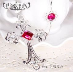 DIABOLIK LOVERS Komori Yui Cosplay Necklace High Quailty Cross Shape Pendant