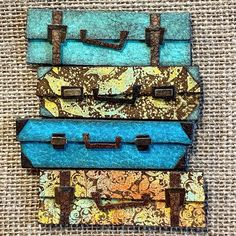 Stampers Anonymous, Baggage Claim, Class Projects, Card Making Inspiration, Paper Models, Tim Holtz, Fabric Art, Copic, Scrapbooking Ideas