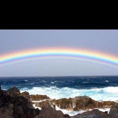 Rainbow in Kona Hawaii taken by my friend Nancy ---with her phone no less!