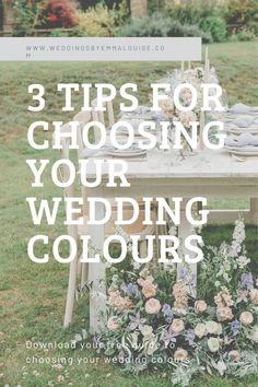 Do you need help deciding on your wedding colour palette? Download your freebie now for colour theory info, my method of putting together a colour palette and 5 free palettes to use and edit. Photographer Kelsie Scully and Florist Bramble and Belle Stylist WeddingsbyEmmaLouise #weddingcolours #weddinghelp #weddingcolourpalette #weddingtips Wedding Advice, Wedding Planning Tips, Wedding Day, Breakfast Tables, Wedding Breakfast, Wedding Colours, Wedding Color Schemes, Wedding Flower Arrangements, Wedding Flowers