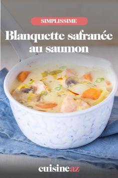 Une recette de saumon facile en blanquette safranée. #recette#cuisine #blanquette #saumon #poisson #safran