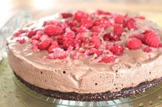 Raw Chocolate & Raspberry Mousse Cake