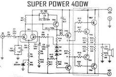 Power Amplifier 400W Circuit 2SC2922 2SA1216