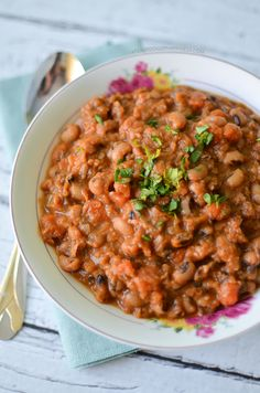 New Year's Black Eyed Pea Soup - A Teaspoon of Happiness