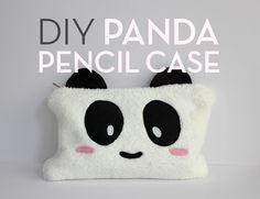 DIY Panda Pencil Case