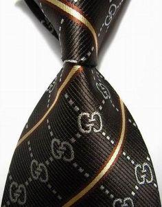 Designer Brand Classic 100% Silk Fashion Men's Necktie