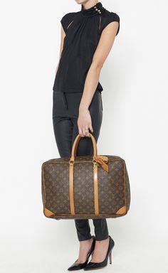 Louis Vuitton Dark Brown And Tan Luggage | VAUNTE