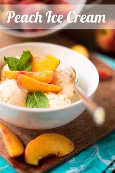 Peach Ice Cream Recipe #icecream #peach #summer