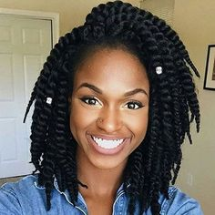 #naturalhairstyles - so cute, natural hair for black women. These twists are gorgeous! http://www.shorthaircutsforblackwomen.com/co_washing/