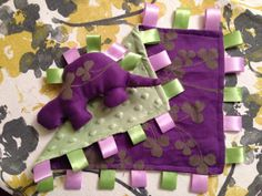 Custom Made Wrap Scrap Minky Lovie by PaintTheStarsBlue on Etsy, $25.00