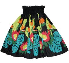 Hawaiian Pa'u Hula Skirt Colorful Black Hawaii Flower -- You can find more details by visiting the image link.