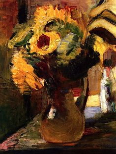 Bouquet of Sunflowers Henri Matisse - 1898