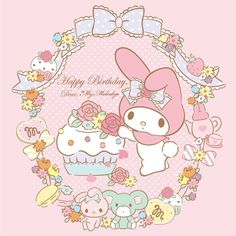 Happy Birthday to My Melody ヾ(@⌒ー⌒@)ノ 01/18
