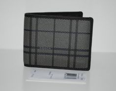 Coach Grey Multi Tattersall Slim Compact Billfold Bifold Mens Wallet 74534 New with Tag