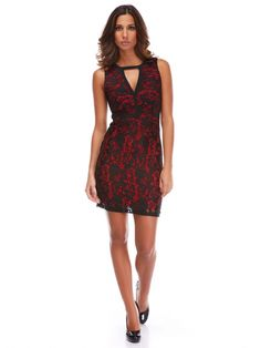 Piper & June, jurk, zwart en rood