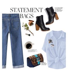 """""""Carry On: Statement Bags"""" by punnky ❤ liked on Polyvore featuring Haute Hippie and Garance Doré"""