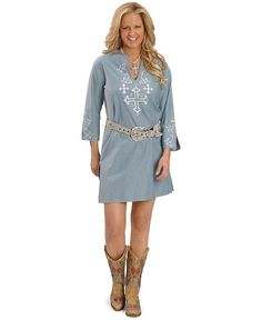 Rancho Estancia Trinity Chambray Dress
